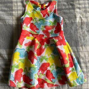 Nannette Girls Butterfly Dress